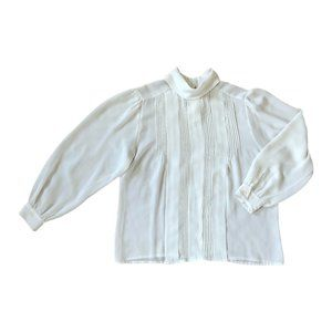 Vintage Laura and Jayne Pleated Front Blouse Sz 14